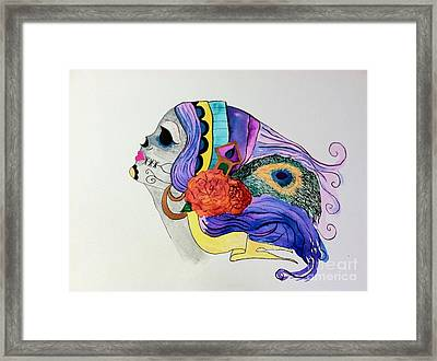Day Of The Dead Lady 2 Framed Print by Melissa Darnell Glowacki