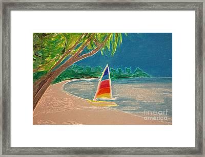 Day Sailer Framed Print by First Star Art