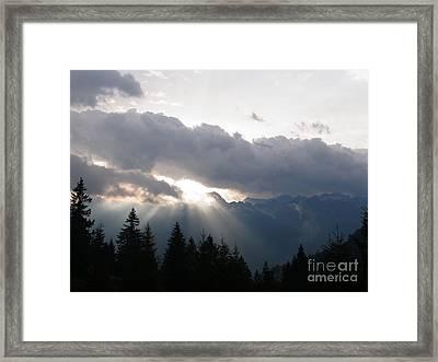 Daybreak Over Lepontine Alps Framed Print by Agnieszka Ledwon