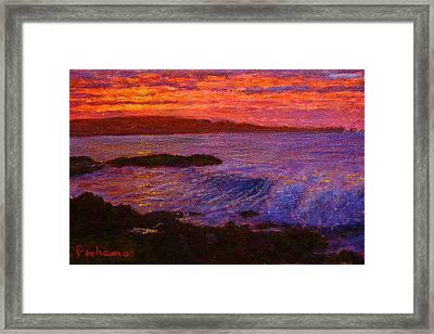 Daybreak Porpoise Bay Framed Print by Terry Perham