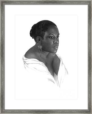 Daydreamer A Study In Black And White Framed Print by Joe Olivares