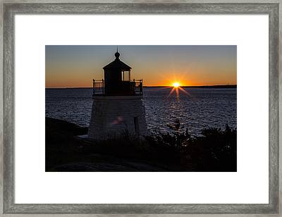 Days End At Castle Hill Full Color Framed Print by Andrew Pacheco