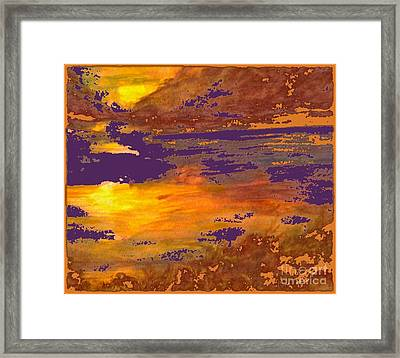 Days End Framed Print by Cindy McClung