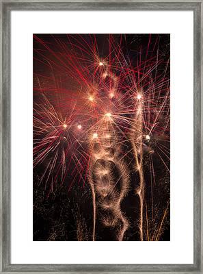 Dazzling Fireworks Framed Print by Garry Gay