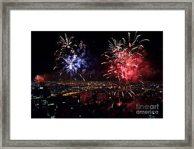 Dazzling Fireworks II Framed Print by Ray Warren