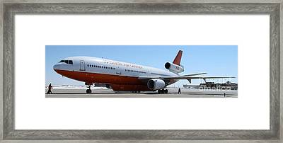 Framed Print featuring the photograph Dc-10 Air Tanker At Rapid City by Bill Gabbert