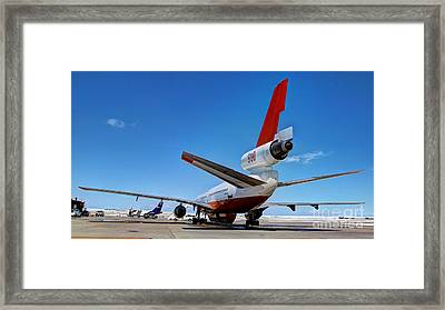 Framed Print featuring the photograph Dc-10 Air Tanker  by Bill Gabbert