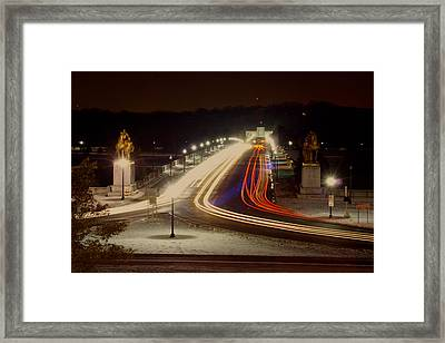 Dc At Night Framed Print by Andrew Johnson