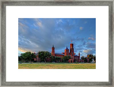 Dc Castle Framed Print by Metro DC Photography