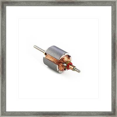 Dc Motor Armature Framed Print by Science Photo Library