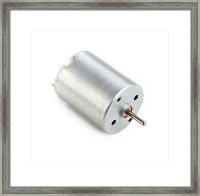 Dc Motor Framed Print by Science Photo Library