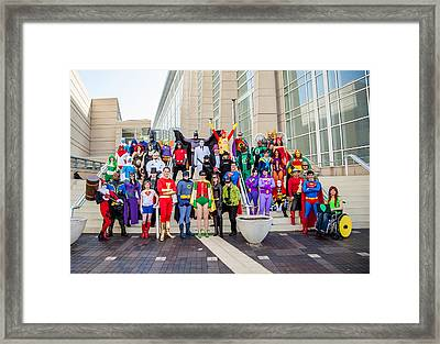 Dc Universe C2e2 2013 Framed Print by Andreas Schneider