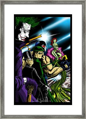 Dc Villains Framed Print by Alexiss Jaimes