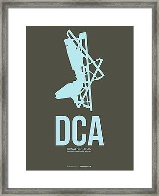 Dca Washington Airport Poster 1 Framed Print by Naxart Studio