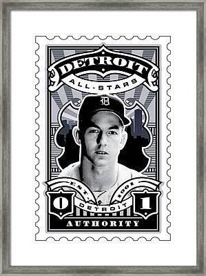 Dcla Al Kaline Detroit All-stars Finest Stamp Art Framed Print by David Cook Los Angeles