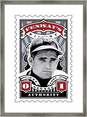 Dcla Bobby Doerr Fenway's Finest Stamp Art Framed Print by David Cook Los Angeles