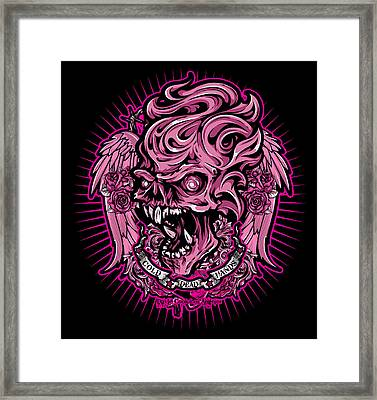 Dcla Cold Dead Hand Zombie Pink 2 Framed Print by David Cook Los Angeles