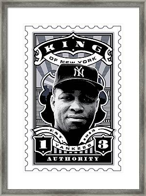 Dcla Elston Howard Kings Of New York Stamp Artwork Framed Print by David Cook Los Angeles