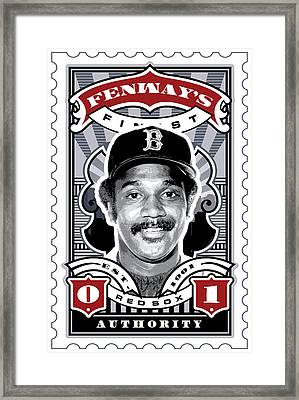 Dcla Jim Rice Fenway's Finest Stamp Art Framed Print by David Cook Los Angeles