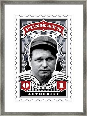Dcla Jimmie Fox Fenway's Finest Stamp Art Framed Print by David Cook Los Angeles