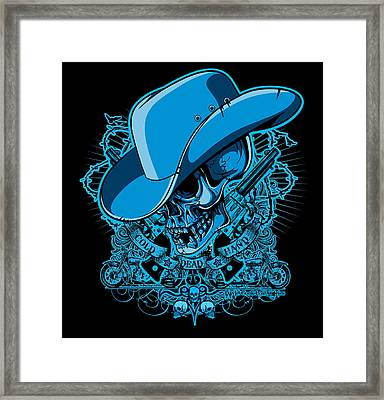Dcla Skull Cowboy Cold Dead Hand 2 Framed Print by David Cook Los Angeles