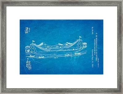 De Bodisco Artificial Sliding Hill Patent Art 2 1869 Blueprint Framed Print by Ian Monk