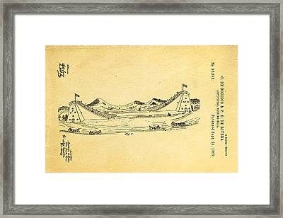 De Bodisco Artificial Sliding Hill Patent Art 2 1869 Framed Print by Ian Monk