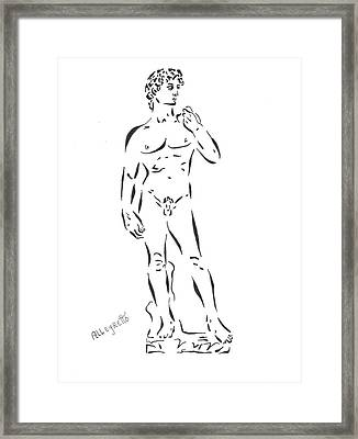 De-constructing David Framed Print by Pamela Allegretto