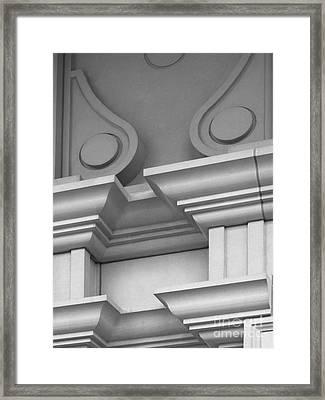 De Pauw University Detail Framed Print by University Icons