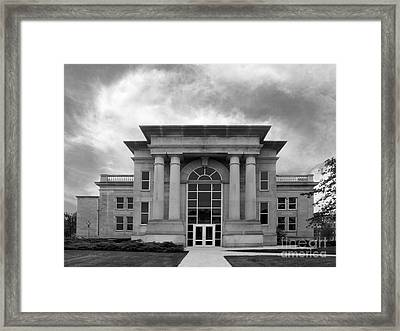 De Pauw University Emison Building Framed Print by University Icons