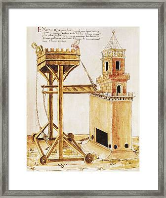 De Re Militari On The Military Arts Framed Print by Everett
