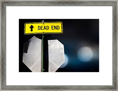 Dead End Framed Print by Bob Orsillo