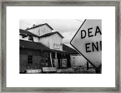 Dead End Framed Print by Jon Woodhams