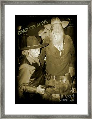 Dead Or Alive Framed Print by John  Malone