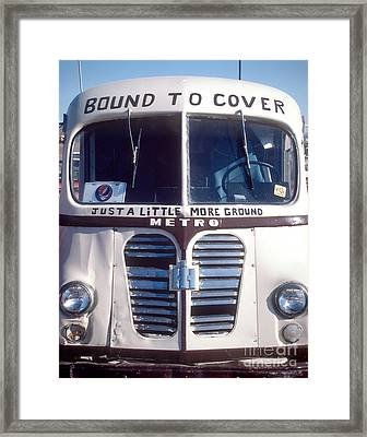 Dead Tour Bus Framed Print by Chuck Spang