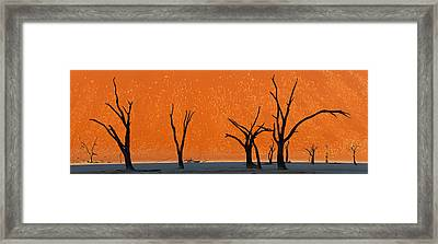 Dead Trees By Red Sand Dunes, Dead Framed Print by Panoramic Images