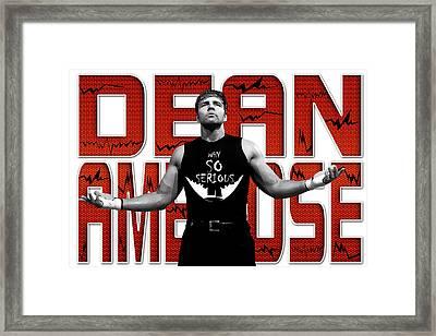 Dean Ambrose Why So Serious Framed Print by Anibal Diaz