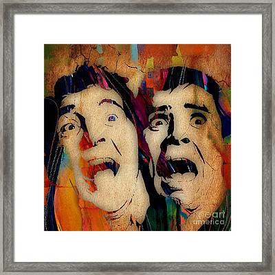 Dean Martin Jerry Lewis Collection Framed Print by Marvin Blaine