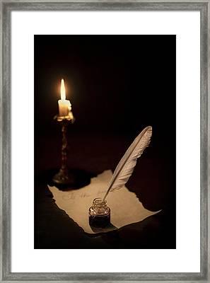 Dear Diary... Framed Print by Evelina Kremsdorf