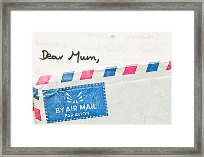 Dear Mum Framed Print by Tom Gowanlock