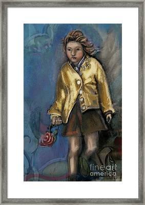 Dear Prudence Framed Print by Carrie Joy Byrnes