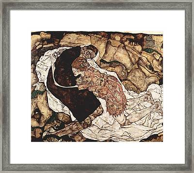 Death And The Maiden Framed Print by Celestial Images