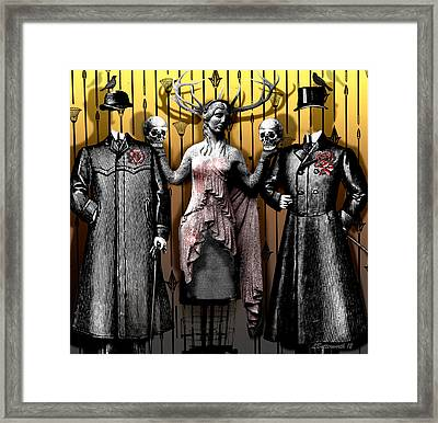 Death And The Maiden Framed Print by Larry Butterworth