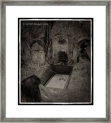 Death Becomes Her Framed Print by Kristie  Bonnewell