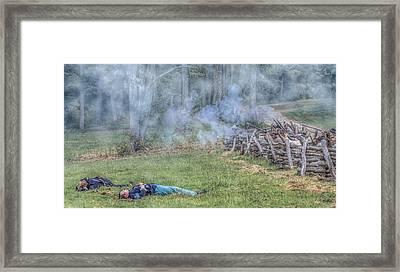 Death In Battle Framed Print by Randy Steele