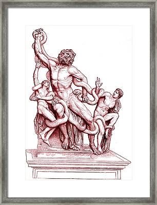 Death Of Laocoon Framed Print by Collection Abecasis