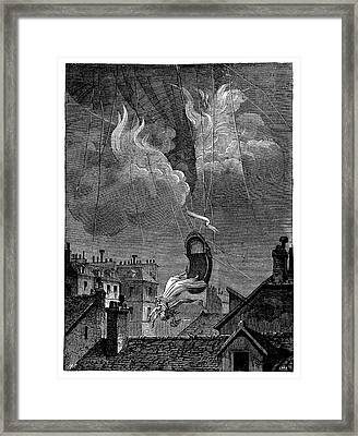 Death Of Sophie Blanchard Framed Print by Science Photo Library