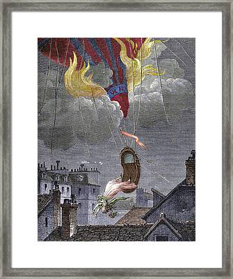 Death Of Sophie Blanchard Framed Print by Sheila Terry