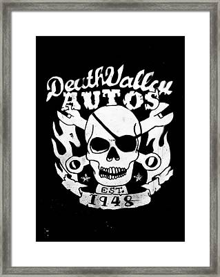 Death Valley Autos Framed Print by Phil 'motography' Clark