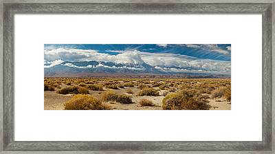 Death Valley Landscape, Panamint Range Framed Print by Panoramic Images